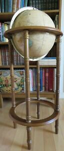 World Globe Cram S Imperial 38 Tall With 12 Mounted On Wooden Floor Stand 1993
