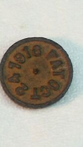Antique Cast Iron Token Scale Weight Pat Oct 24 1916 1 4 Thick