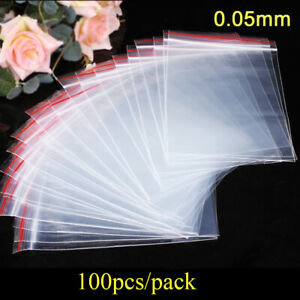 Pouch Packaging Self Adhesive Jewelry Zip Bags Plastic Bag Poly Clear