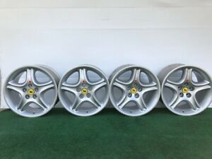 Rare Ferrari 456 456gt 456gta 456mgt 456mgta Genuine Factory Oem Wheels Rims Set