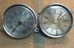 1941 Chevy Masyer Deluxe Special Dwluxe Speedometer And Clock