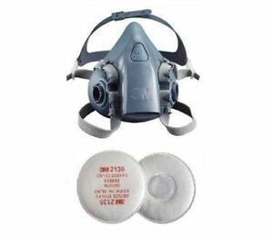 3m 7500 Silicone Half Mask Respirator 2135 P3 Vapour Particulate Filter