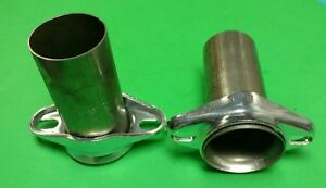 2 5 Header To 2 5 Od 409 Stainless Pipe 2 Bolt Ball Socket Header Collector