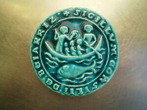 Seal Gothic Biarritz Ceramic Deco Basque Country Euskadi Boat Whale Visitors