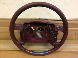 92 Ford Crown Victoria Steering Wheel Leather Cruise Burgandy
