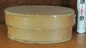 Rare Antique Wood Small Pantry Box With Tacked Overlap Seam 1830 456