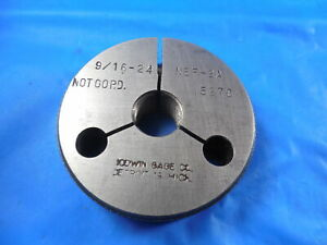 9 16 24 Nef 2a Thread Ring Gage 5625 No Go Only P d 5270 Quality Inspection