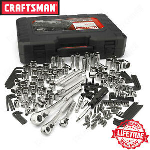Craftsman 230 piece Mechanics Tool Set W Case Alloy Sae Metric Socket Wrench