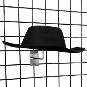 Gridwall Single Hat Rack Millinery Display With Foam Pads Chrome Or Black