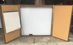 Quartet 48 X 48 Enclosed Wooden Cabinet Conference Whiteboard Projection Screen