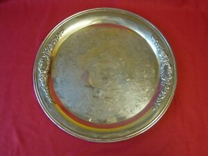 Silver Plated Tea Or Butlers Tray Or Salver