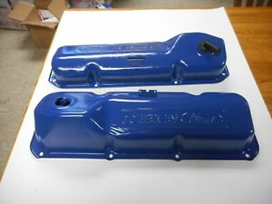 1971 1972 1973 Ford 351c Power By Ford Valve Covers Clean Pair Oem Original