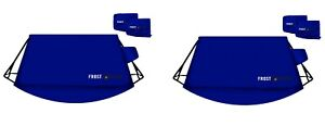 2 Frostguard Windshield Cover Side Mirror Covers Ice Snow Frost Standard Blue