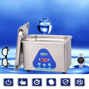 New Stainless Steel 0 8l Liter Industry Heated Ultrasonic Cleaner Heater Timer