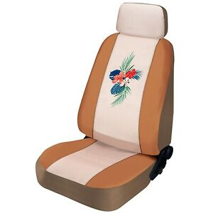 New Swarovski Crystals Tropical Flower Premium Faux Leather Neoprene Seat Covers