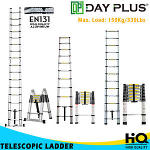 Telescoping Ladder Extension Heavy Duty Aluminium 10 5 12 5 16 5ft Portable Easy
