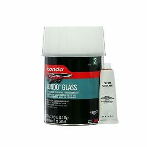 Bondo 272 Bondo Glass Fiberglass Reinforced Filler Quart Can 2 Lbs 9 Oz Hardener
