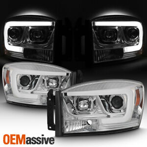 For 2008 Dodge Ram 1500 2500 2006 2009 Dodge Ram Chrome Drl Projector Headlights