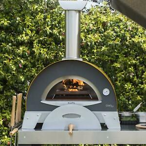 Alfa Ciao M 27 in Outdoor Countertop Wood fired Pizza Oven Yellow