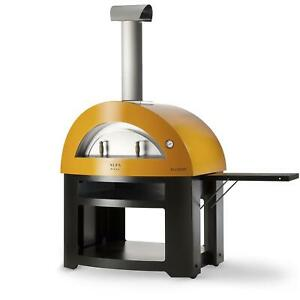 Alfa Allegro 39 inch Outdoor Wood fired Pizza Oven Yellow