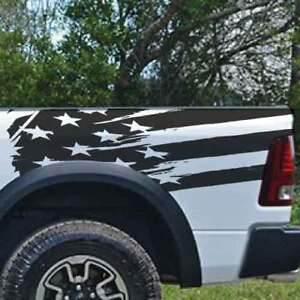 Dodge Ram Chevy Ford American Flag Truck Vinyl Decal Bed Graphic Reflective Cast