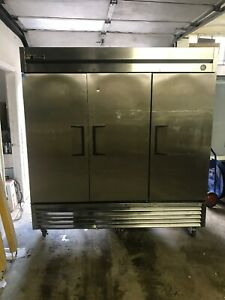 True T 72f 3 Door Commercial Reach In Freezer Stainless Steel Used T72f