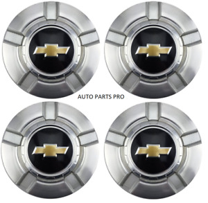 4pcs 18 Inch Chevy 6 Lug Machined Aluminum Center Caps Hubcaps Wheel Cover 07 13