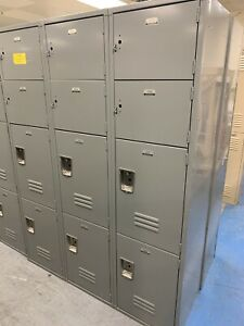 Penco Metal Gym School Employee Storage Lockers 3 Columns 12 Doors