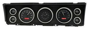 1967 Chevrolet Impala Dakota Digital Black Alloy Red Vhx Gauge Dash Kit
