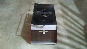 Vintage Caloric Cub Ultra Ray Portable Propane Gas Camp Stove Broiler Red