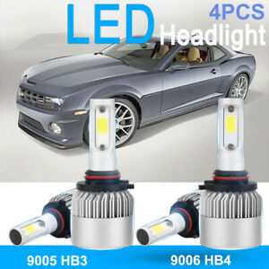 4x 9005 Hb3 9006 Hb4 Led Headlight Kit Bulbs For Chevrolet Camaro 2002 1999