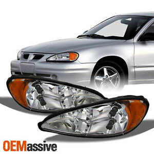 Fit 1999 2005 Pontiac Grand Am Headlights Replacement 2000 2001 2002 2003 2004