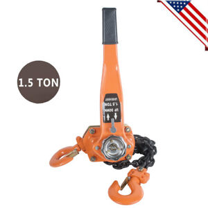 Durable Chain Lever Block Hoist Come Along Ratchet Lift 1 5 Ton 1 5m 3000lb