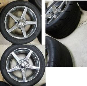 Corvette C5 Front Wheels With Mickey Thompson Et Street Tires 275 40r 17