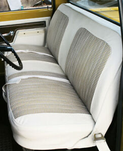 67 72 Chevy gmc C10 Truck White black Houndstooth Bench Seat Cover made In Usa