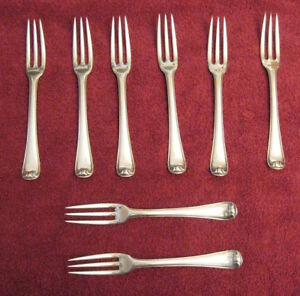 Puiforcat Antique French Sterling Silver Dinner Flatware Service For 8 40 Pcs