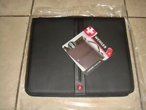 Black Executive Wenger Business Office Organizetech Zippered Padfolio Bundle Set
