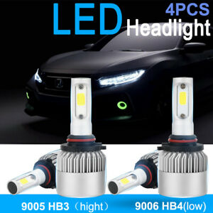 4x 9005 9006 Led Headlight Kit Bulbs Fit Honda Accord 1990 2012 Civic 2004 2015