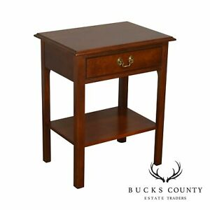 Stickley Solid Cherry Traditional One Drawer Nightstand