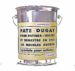 Pate Dugay Furniture Wax France Noir Black 5000ml Gallon