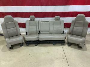 08 10 Ford Superduty F 250 F 350 Crew Cab Lariat Heated Leather Seat Set