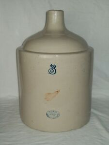 Antique 3 Gallon Red Wing Jug Stoneware Crock Jug