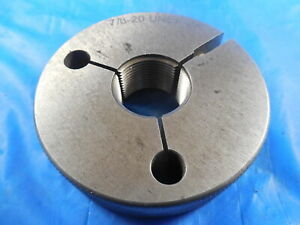 7 8 20 Unef 2a Vermont Thread Ring Gage 875 Go Only P d 8412 Inspection