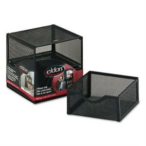 Organization Two drawer Cube Wire Mesh Storage 6 X 6 X 6 Black