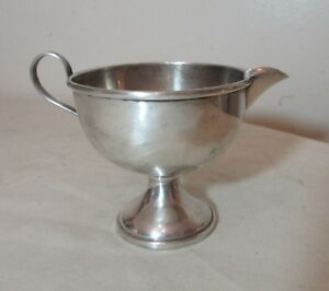Vintage Sterling Silver El Sil Co Sauce Gravy Boat Creamer Bowl W Handle