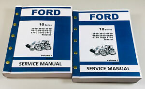 Ford Tractor 2610 3610 4110 4610 5610 6610 6710 7610 7710 Service Shop Manual