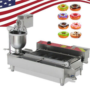 Commercial Auto Electric Donut Making Machine Donut Fryer Stainless Steel us