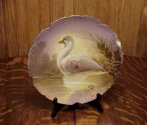Antique Rare French Limoges Ls S Hand Painted A Pare S Game Bird Charger Plaque