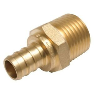 Sharkbite Lead free Insert 1 In Barb X 1 In Barb Brass Pex Coupling