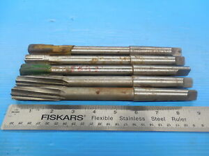 5 Pc Lot Of 13 16 Reamers Striaght And Spiral Flute Morse Taper 2 Mt2 8125